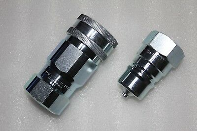 Parker Steel Hydraulic Quick Connect Coupling 6603-16-16 1 in + 6605-16-16 1 in