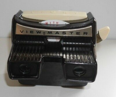 SAWYER'S VIEWMASTER LIGHTED STEREO VIEWER ORIGINAL 1950's MODEL F RARE  C319