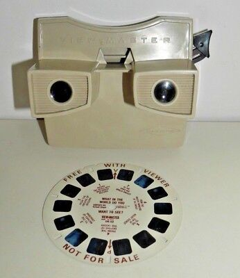 VIEWMASTER VIEWER RARE MODEL G ALBINO 1960's RETRO SAWYERS VINTAGE TOY  C320