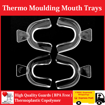 4 x Teeth Whitening Kit Thermo Mould High Quality Mouth Trays - 3 Day Delivery