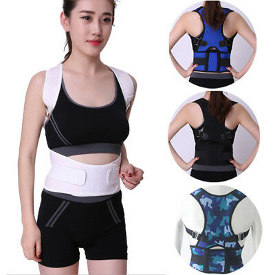 Body Back Pain Belt Magnetic Therapy Posture Corrector Brace Shoulder Support