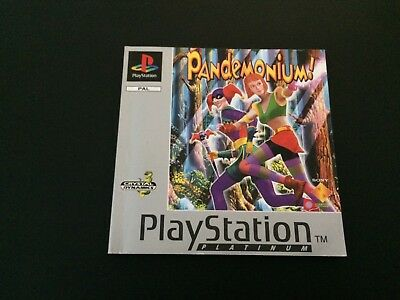 Pandemonium! Platinum Manual - Sony PlayStation PS1 - Instructions Only