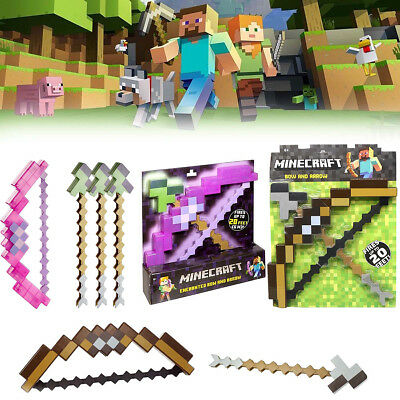 Minecraft Enchanted Bow And Arrow Outdoor Kids Boys Birthday Gift Children Toy