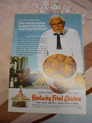 1970 Kentucky Fried Chicken Advert KFC ( readers digest page)