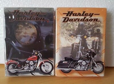Harley Davidson 1999 Playing Cards Lot of 2 Sealed!