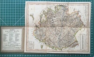 1830 Antique Folding Pocket County Map of Herefordshire - Chapman & Hall