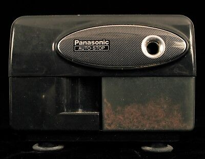 Panasonic Auto Stop Electric Pencil Sharpener Kp-310 Black Suction Feet Desk !