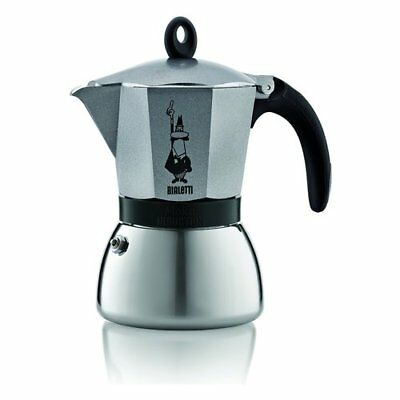 BIALETTI 0004823 - Caffettiera 6 tazze antracite Moka Induction - caffettiere