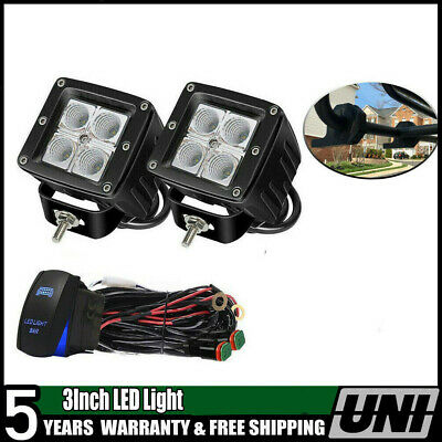 3Inch 16W Led Fog Lights Driving Lamp For Jeep Wrangler TJ 4WD 1997-2006