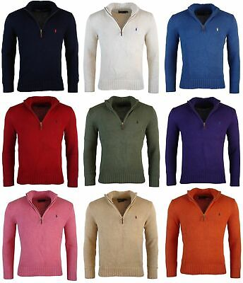 Polo Ralph Lauren Men's 100% Cotton Half Zip Sweater