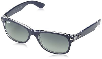 2ad22d1cfe1c Ray Ban RB2132 Sunglasses-605371 Blue Transparent (Gray Grad Lens)-55mm