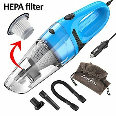 LIBERRWAY Car Vacuum Cleaner High Power DC 12v Portable Handheld Wet Dry Auto...