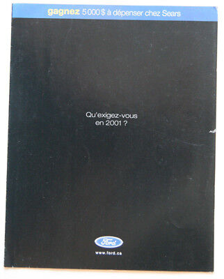 FORD 2001 dealer brochure - French - Canada - ST501000918 MUSTANG THUNDERBIRD