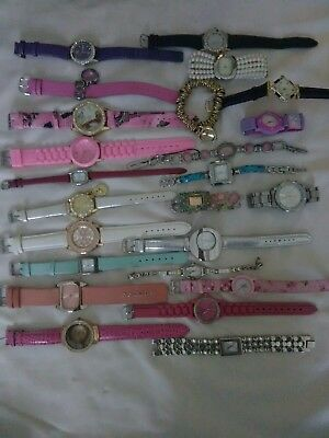 Ladies watches joblot of 25 unworn all are working a good selection offered