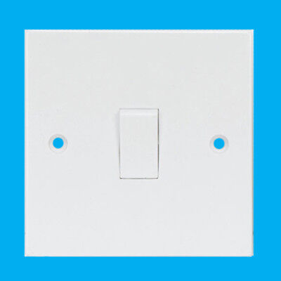 White 1 Gang 3 Way Intermediate Mains Wall Light Lamp Switch, 10A 240V