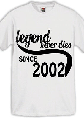 Legend 2002 16th Birthday Gifts Present Gift Ideas T Shirt For 16 Year Old Boys