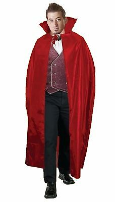 Halloween Red Vampire Carded Cape 56 Inches Adult Party Wear Fancy Dress Costume
