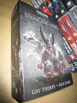 Gav Thorpe ++ MASTERS OF STONE & STEEL OMNIBUS 1st/Pb MINT Warhammer Chronicles