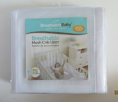Breathable Baby Safer for Baby Breathable Mesh Crib Liner White NEW in Package