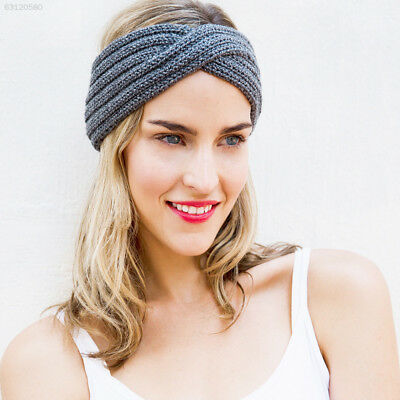 841F 7 Colors Crochet Soft Woolen Headband Knitted Turban Outdoor Turban