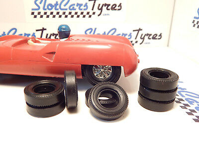 1//24 URETHANE SLOT CAR TIRES 2pr fit Revell Goodyear Front /& Rears