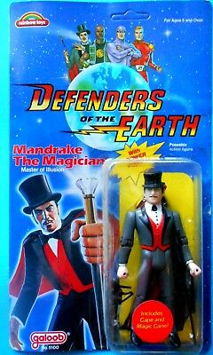Defenders Of The Earth - Galoop - Mandrake The Magician  Action Figures 1985