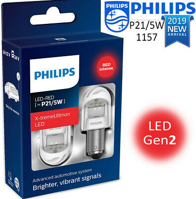 Philips P21/5W LED Vision Red Brake and Tail Signaling Light BAY15D 2 pin 1157