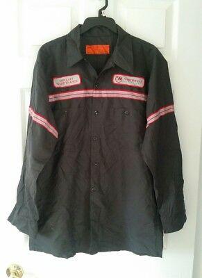 Vintage Men's NWA Northwest Airlines Aircraft Maintenance Shirt