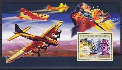 Guinea Block 1098 (4512) **, Flugzeuge / Airplanes - Charles De Gaulle