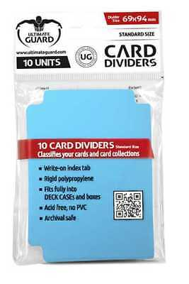 Ultimate Guard TRADING CARD STORAGE DIVIDERS PACK OF 10 - Light Blue
