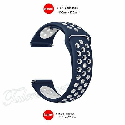 38mm S Replacement Silicone Sport Band Blue Bracelet Strap Fitbit Blaze Tracker