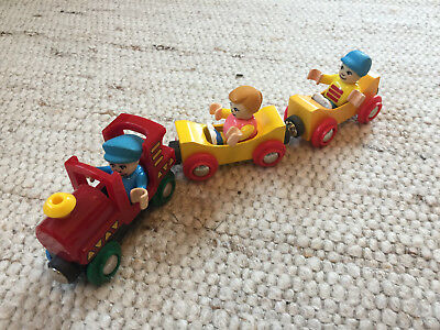 Brio 33315 Kinderzug Zug Lok & 2 gelbe Wagen & 3 Figuren TOP - Children's Train
