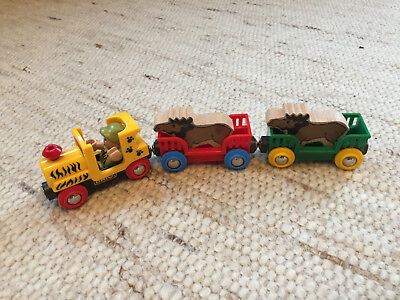 original BRIO Safarizug mit 2 Elchen - extrem SELTEN TOP - Safari Train & 2 Elks