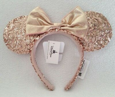 Disney Parks Rose Gold Mickey Mouse Ears ~ NEW WITH TAGS