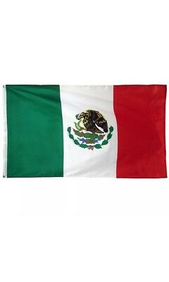 Mexico Flag, 3' x 5' ft. Flag Indoor-Outdoor Country Mexican w/ Grommets