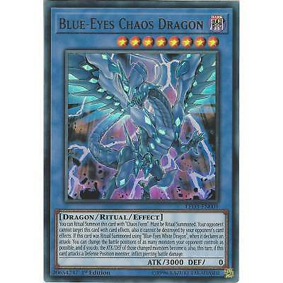 Yu-Gi-Oh! TCG: Blue-Eyes Chaos Dragon - LED3-EN001 Ultra Rare Card - 1st Edition