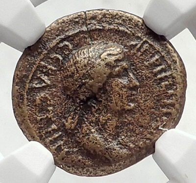 AGRIPPINA II Junior NERO MOM Aezanis Phrygia RARE Ancient Roman Coin NGC i72614