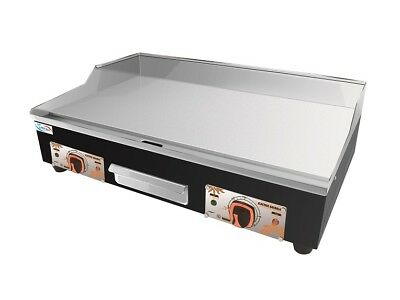 Large Commercial Electric Griddle Hotplate 73 cm Flat Grill With UK Double Plugs