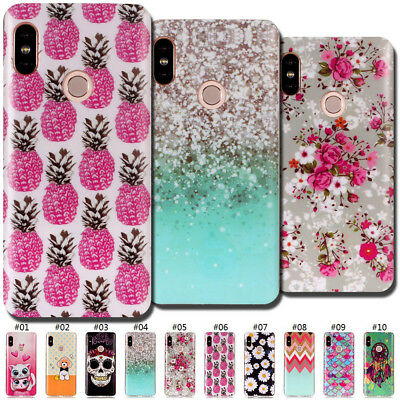 For Xiaomi Redmi Note 5 Pro Silicone Skin Matte Soft Cute TPU Painted Case Cover