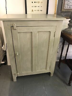 Antique French Painted pine cupboard  Cabinet