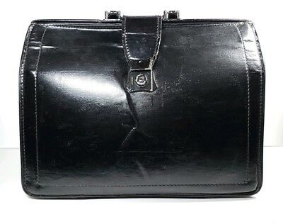 "Vintage Doctors Leather Bag Retro Chic 17"" x 12"" x 7"""