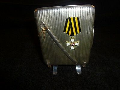 ANTIQUE Russian Order of St. George CIGARETTE CASE