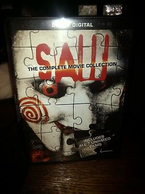 SAW The COMPLETE MOVIE COLLECTION All 7 Unrated SAW Movies 4-Disc DVD Set
