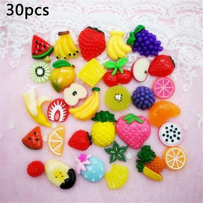 30PCS Slime Charms Mixed Fruit Series Beads For Kid Gift Birthday DIY Party