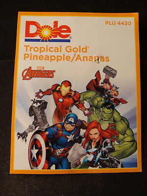 The Avengers pineapple tag Dole Marvel Comics