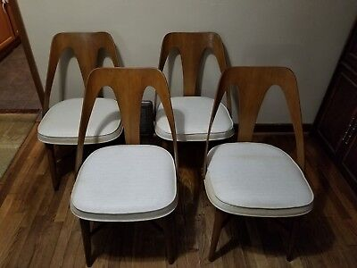 Mid Century Walnut Dining Chairs by Lawrence Peabody for Richard Nemschoff SET