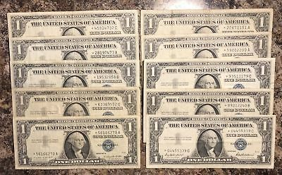 STAR NOTE! This is for One 1957 Silver Certificate STAR NOTE VG / FINE FREE P/H