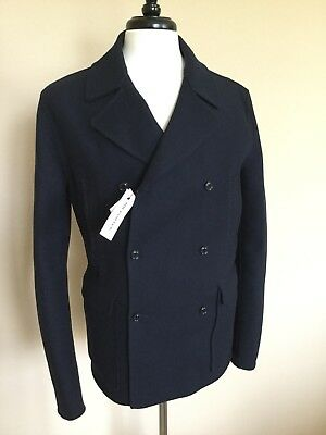 bd0bb18ab7bc NWT MONCLER WOOL Cashmere Navy Peacoat Size 3 Made in Italy  2.2K ...