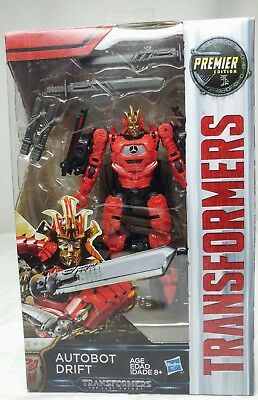 NIB Transformers The Last Knight Movie Deluxe Premier Edition Autobot Drift Fig.