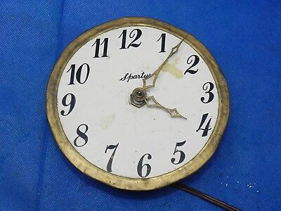 Vintage Spartus Electric Clock Movement Dial Face Hands